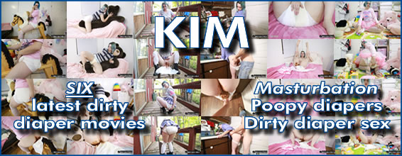 SIX Kim diaper pooping