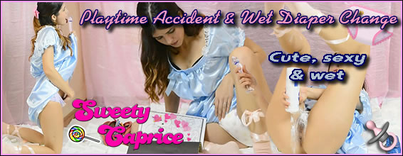 Playtime Accident & A Wet Diaper Change