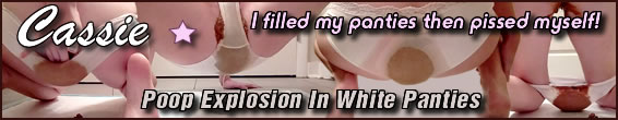 Poop Explosion In White Panties